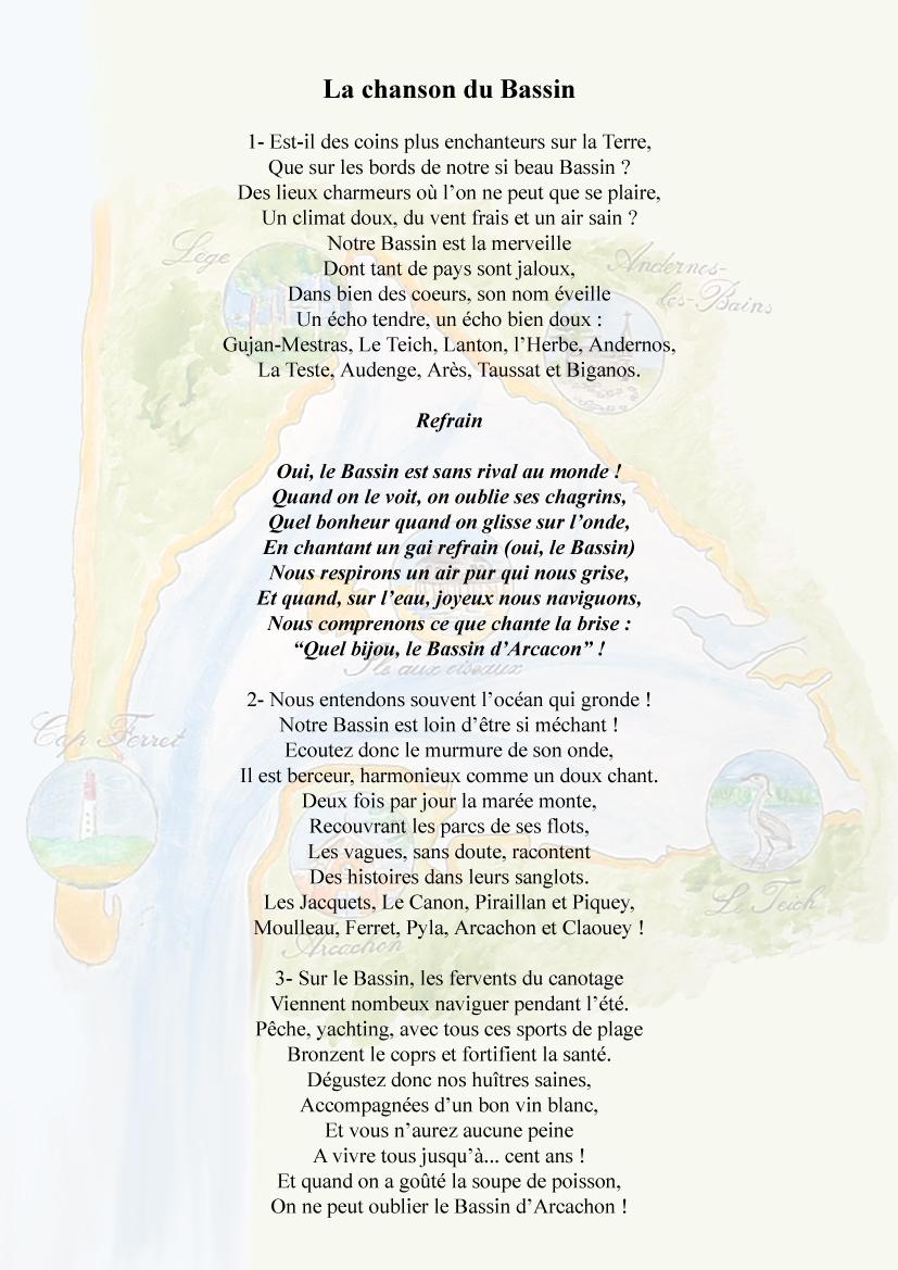 Paroles de la chanson du Bassin