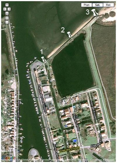 les écluses de la partie Est du port de la Teste