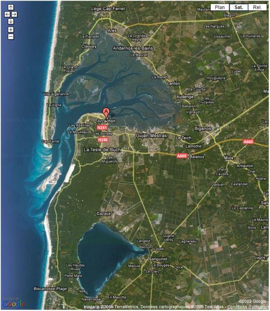 BLOG-Bassin et lac Google Maps