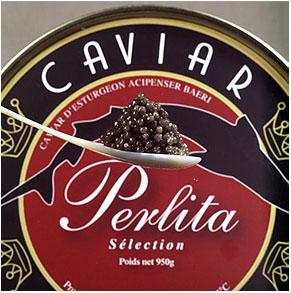 Perlita-cuillerée caviar