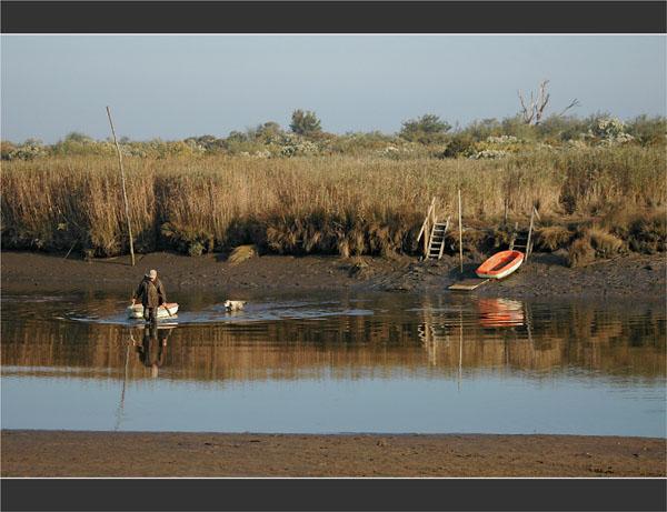 BLOG-DSC_2001-chasseur, son chien, sa barque traversée Leyre