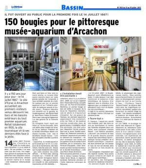 150 bougies pour le pittoresque Musée-Aquarium d'Arcachon LDDB 14 juillet2017