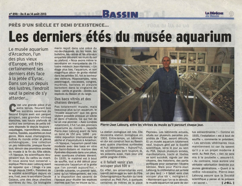 Les derniers étés du musée-aquarium - LDDB Août 2013