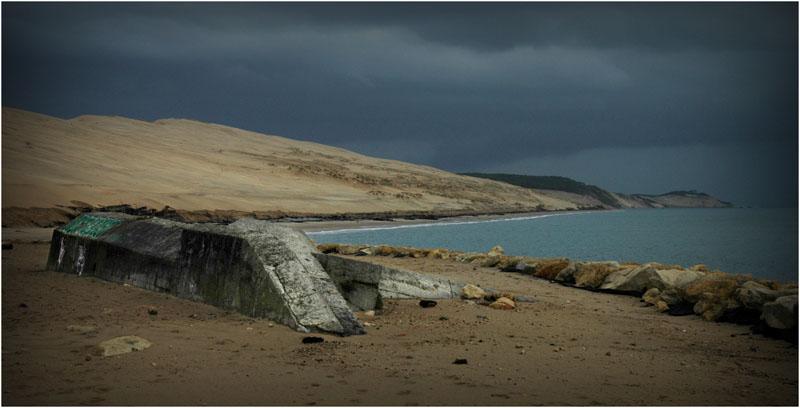 BLOG-DSC_1563-bunker et dune du Pyla pluie