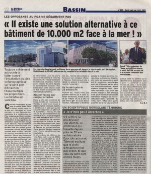 Alternative au POA 10000 m² - LDDB 905 du 26 Sept au 2 Oct 2013