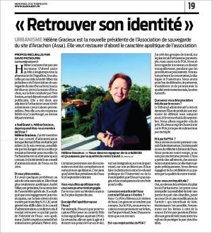 Hélène Gracieux nouvelle présidente ASSA - Sud-Ouest du 21 Oct 2015