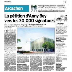 La pétition d'Anny Bey vers les 30000 signatures - Sud-Ouest du 31 Mai 2014