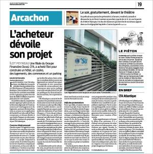 L'acheteur de l'îlot Peyneau dévoile son projet - Sud-Ouest du 25 Septembre 2014