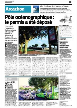 Page 19 - POA - le permis a été déposé - Sud-Ouest du 23 Septembre 2014