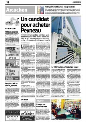 Un candidat pour acheter Peyneau + le POA lancé - Sud-Ouest du 8 Avril 2014