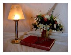 CP-IMG_3815-bougeoir, bouquet & livre