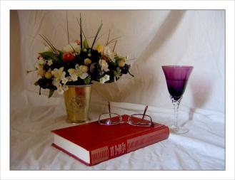 CP-IMG_3822-livre, bouquet & verre à pied