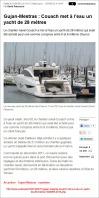 Gujan-Mestras - Couach met à l'eau un yacht de 28 mètres - Sud-Ouest du 11 Avril 2003
