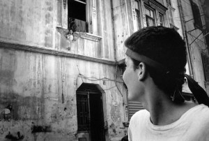 Samer Mohrad -  War Children, Lebanon 1985-1992 Frontline between east and west Beirut seen from the west, downtown Beirut, Lebanon 1989