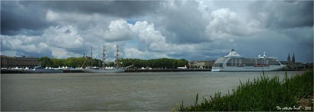 BLOG-DSC_2104-patrouilleur le Flamant 3 mâts Cuauhtémoc et bateau de croisière Seven seas voyager Bordeaux fête le fleuve 2013