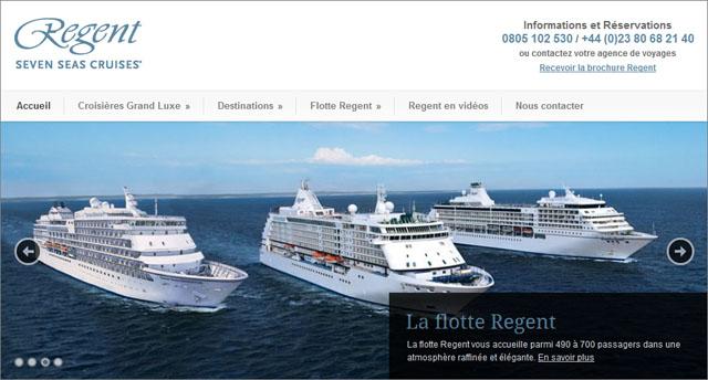 Site croisières Regent Seven Seas