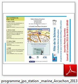 vignette programme JPO station marine Arcachon 2013