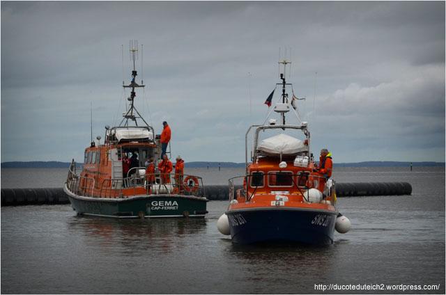 BLOG-DSC_27051-SNSM port du Canal jour mise à l'eau yacht 5000 Fly 02 Couach le Belongers 1er Mars 2014