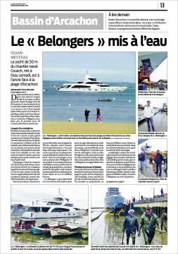 Le Belongers face à la plage d'Arcachon - Sud-Ouest du 3 Mars 2014