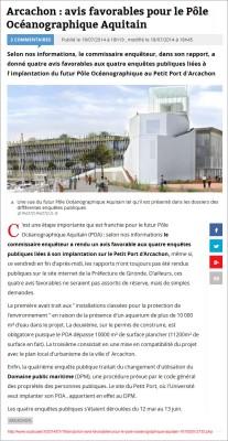 Avis favorables pour le POA - Sud-Ouest-fr du 18 Juillet 2014
