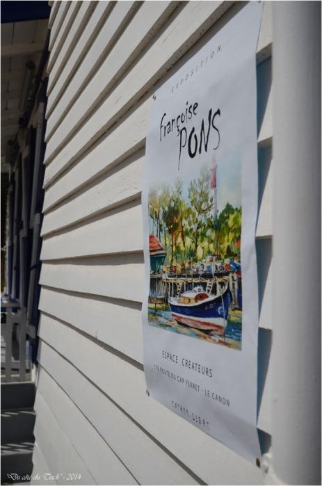 BLOG-DSC_30105-affiche Françoise Pons village de l'Herbe