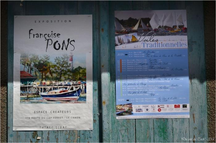 BLOG-DSC_30109-affiches Françoise Pons et voiles traditionnelles village de l'Herbe