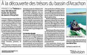 À la découverte des trésors du bassin d'Arcachon - Sud-Ouest du 5 Septembre 2014