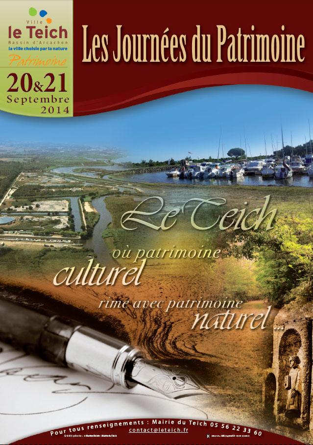 Journées du Patrimoine 2014 Le Teich recto