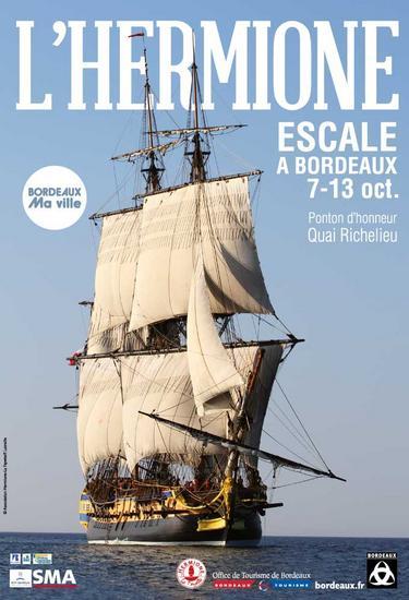 L'Hermione à Bordeaux 7 au 13 Octobre 2014