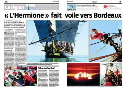 Hermione pages 10 & 11 Sud-Ouest 7 Octobre 2014