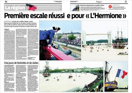 Hermione pages 11 & 12 Sud-Ouest 8 Octobre 2014