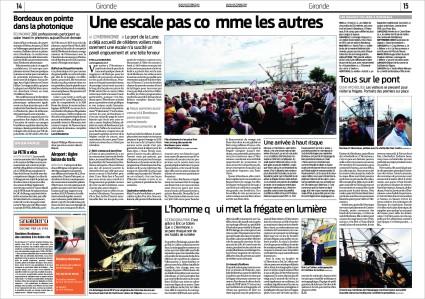 Hermione pages 14 & 15 Sud-Ouest 9 Octobre 2014