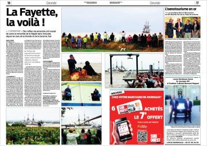 Hermione pages 16 & 17 Sud-Ouest 8 Octobre 2014