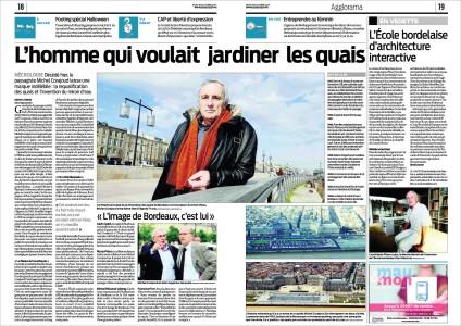 Michel Corajoud - L'homme qui voulait jardiner les quais - Sud-Ouest du 30 Octobre 2014