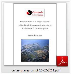 Projet 2014 Domaines de Certes et de Graveyron