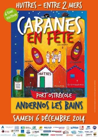 Affiche Cabanes en fête 2014 Andernos
