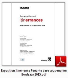 dossier expo Itinerrances 2015