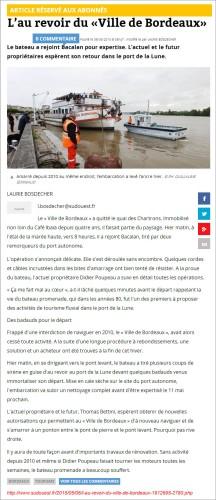 L'au revoir du «Ville de Bordeaux» - SO du 6 Mai 2015