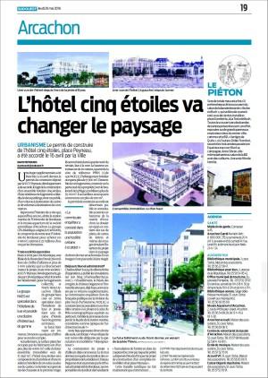 L'hôtel 5 étoiles va changer le paysage - Page 19 Sud-Ouest du 26 Mai 2016