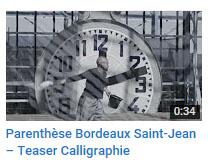 Parenthèse Bdx St Jean - Calligraphie