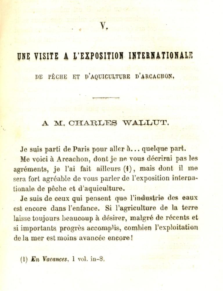 chapitre V de Paris à quelque part - Oscar Comettant