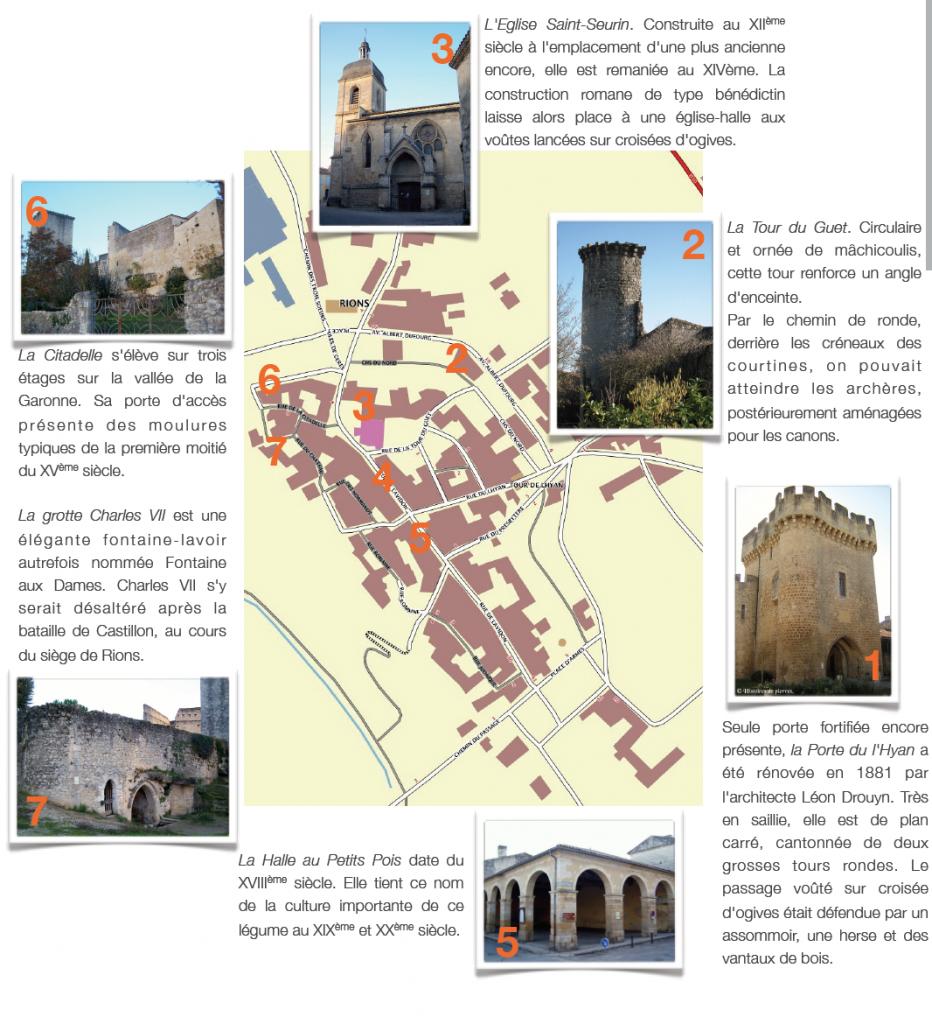 Visiter RIONS (source : site officiel de la ville)