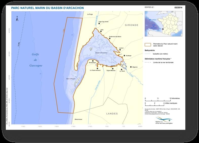 cartographie aires marines 2014 - PNM Bassin d'Arcachon