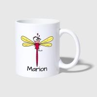 libellule-rouge-prenom-marion-mug-blanc spreadshirt fr