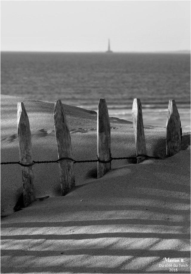 BLOG-P9073501-dunes plage Soulac et phare Cordouan N&B