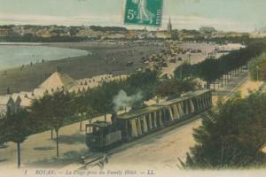 ROYAN - Le tramway Decauville sur le boulevard Garnier vers 1900 (Musée de Royan)
