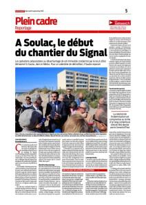SO 26 Sept 2018 - A Soulac le début du chantier du Signal