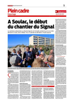 SO 26 Sept 2018 - A Soulac le début du chantier du Signal