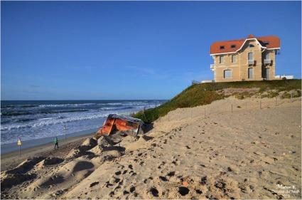 BLOG-DSC_45683-maisons jumelles et blockhaus Biscarrosse marée haute