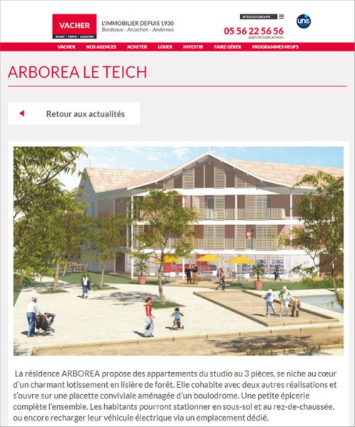 Résidence Arboréa - le Teich - Juin 2020